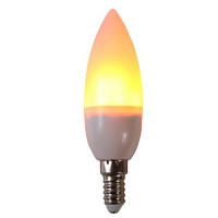 3 W LED лампы типа Корн 250 lm E14 C35 29 Светодиодные бусины SMD 2835 Для вечеринок Декоративная Пламя мерцания Тёплый белый 85-265 V, 1шт / RoHs